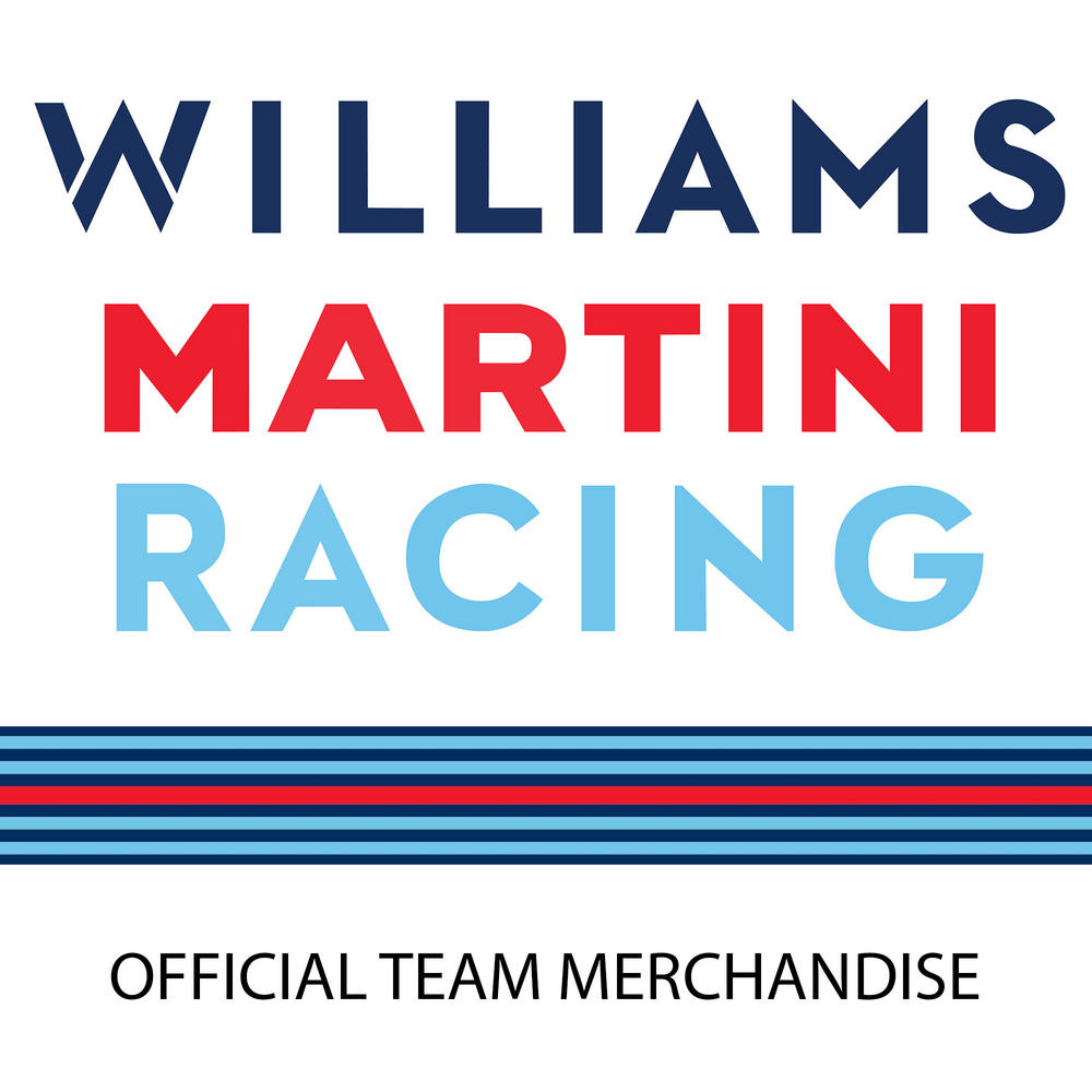 New 2017 Williams Martini Racing F1 Formula One Team Mens