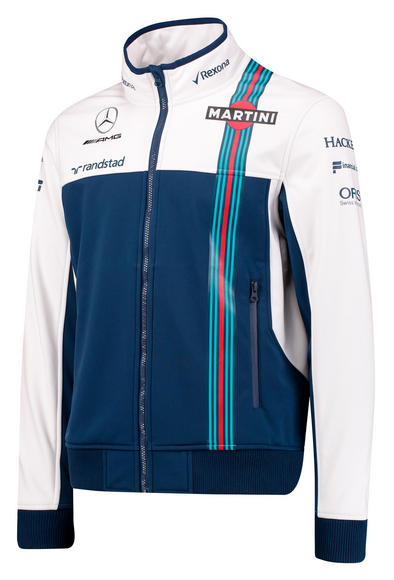 New! 2017 Williams Martini Racing F1 Formula One Team Mens Softshell Jacket
