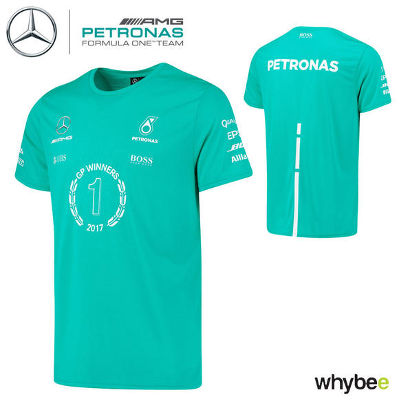 Hugo Boss 2017 Mercedes-AMG F1 Grand Prix Race Winning T-Shirt Hamilton & Bottas