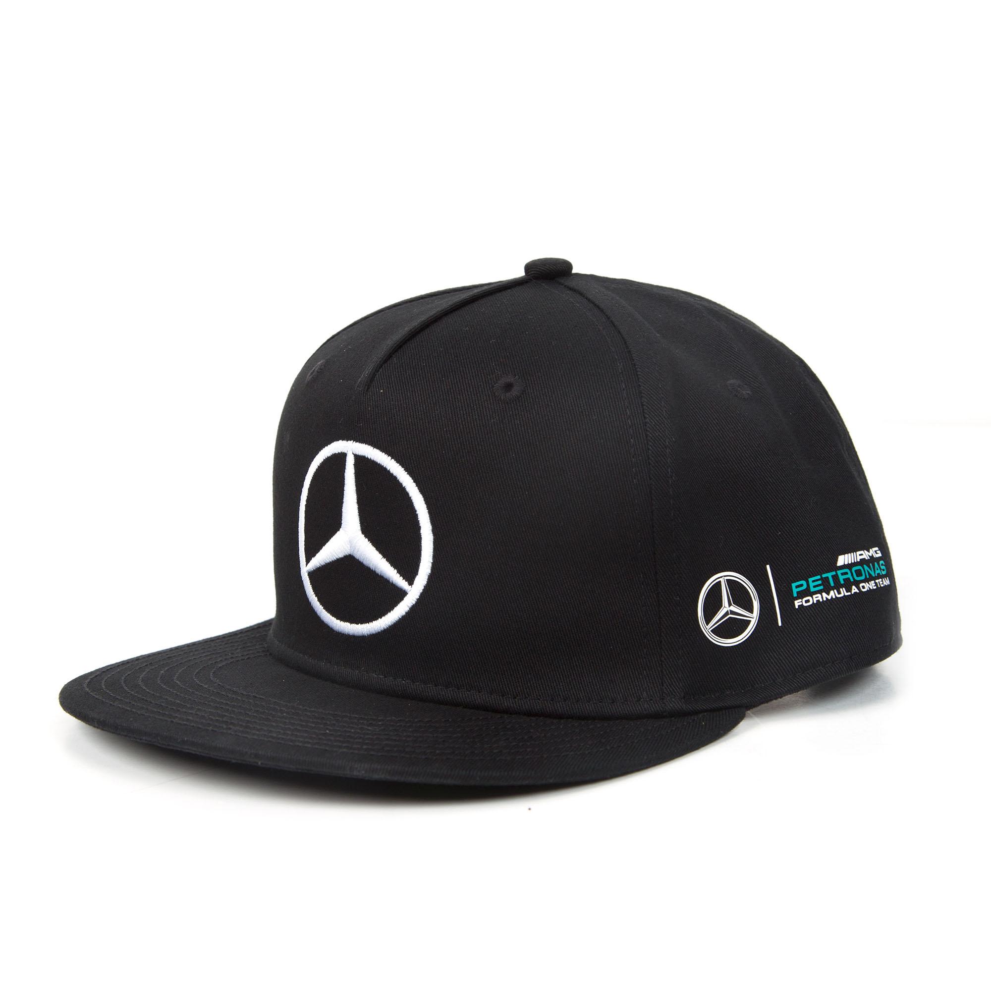 21578aaeb 2017 Lewis Hamilton Flatbrim Cap BLACK Monster Mercedes-AMG F1 Formula 1  Team