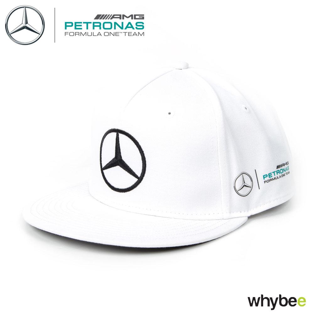 381e71698 2017 Lewis Hamilton Flatbrim Cap WHITE Monster Mercedes-AMG F1 Formula 1  Team