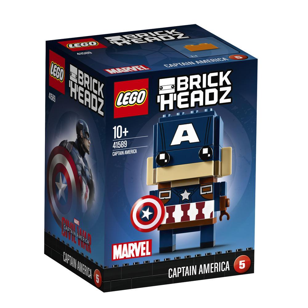 41589 LEGO Brick Headz Captain America BRICKHEADZ