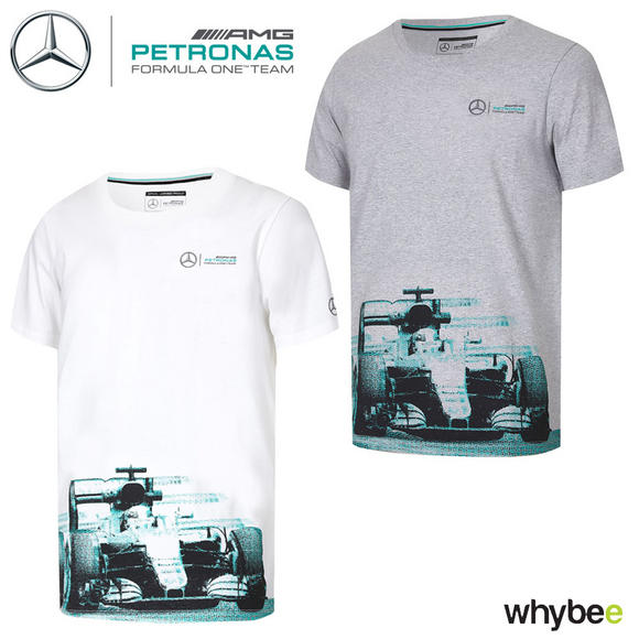 2017 Mercedes-AMG F1 Lewis Hamilton Formula 1 Team Car Graphic T-Shirt Mens
