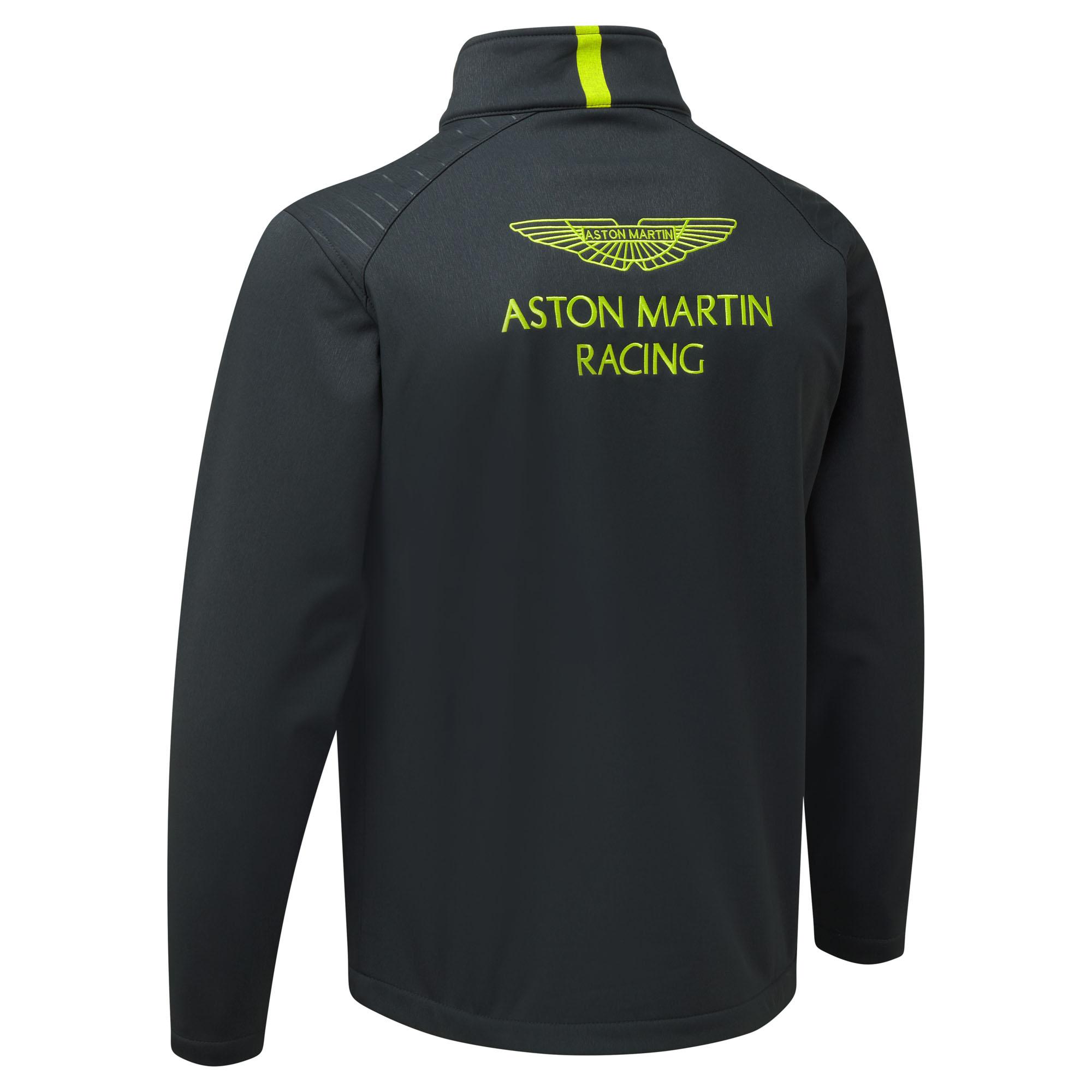 New Aston Martin Racing Team Mens Travel Softshell Jacket - Aston martin shirt