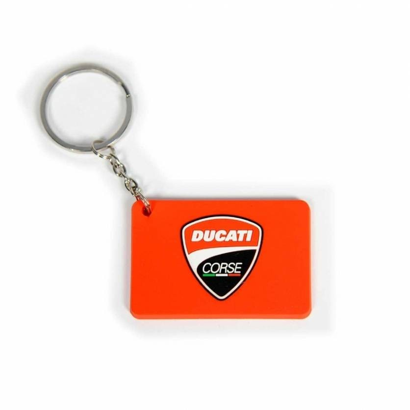 New! Ducati Corse Desmo GP MotoGP Official Team Keyring Rubberised Keychain Red