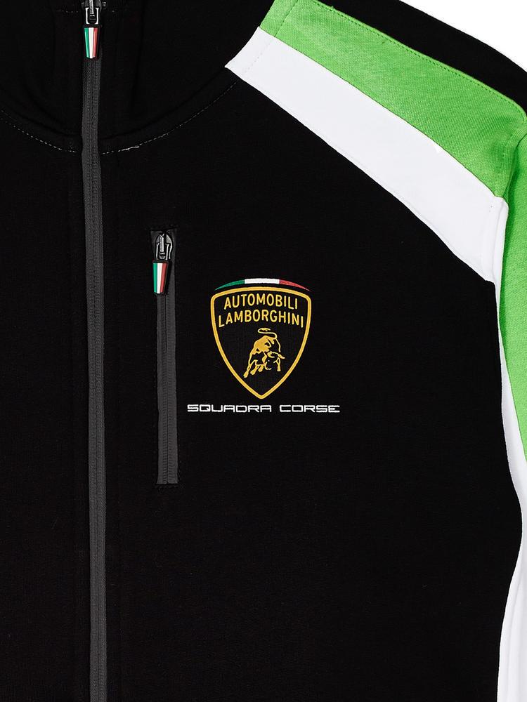 Lc281504 Lamborghini Squadra Corse Mens Team Sweatshirt Full Zip