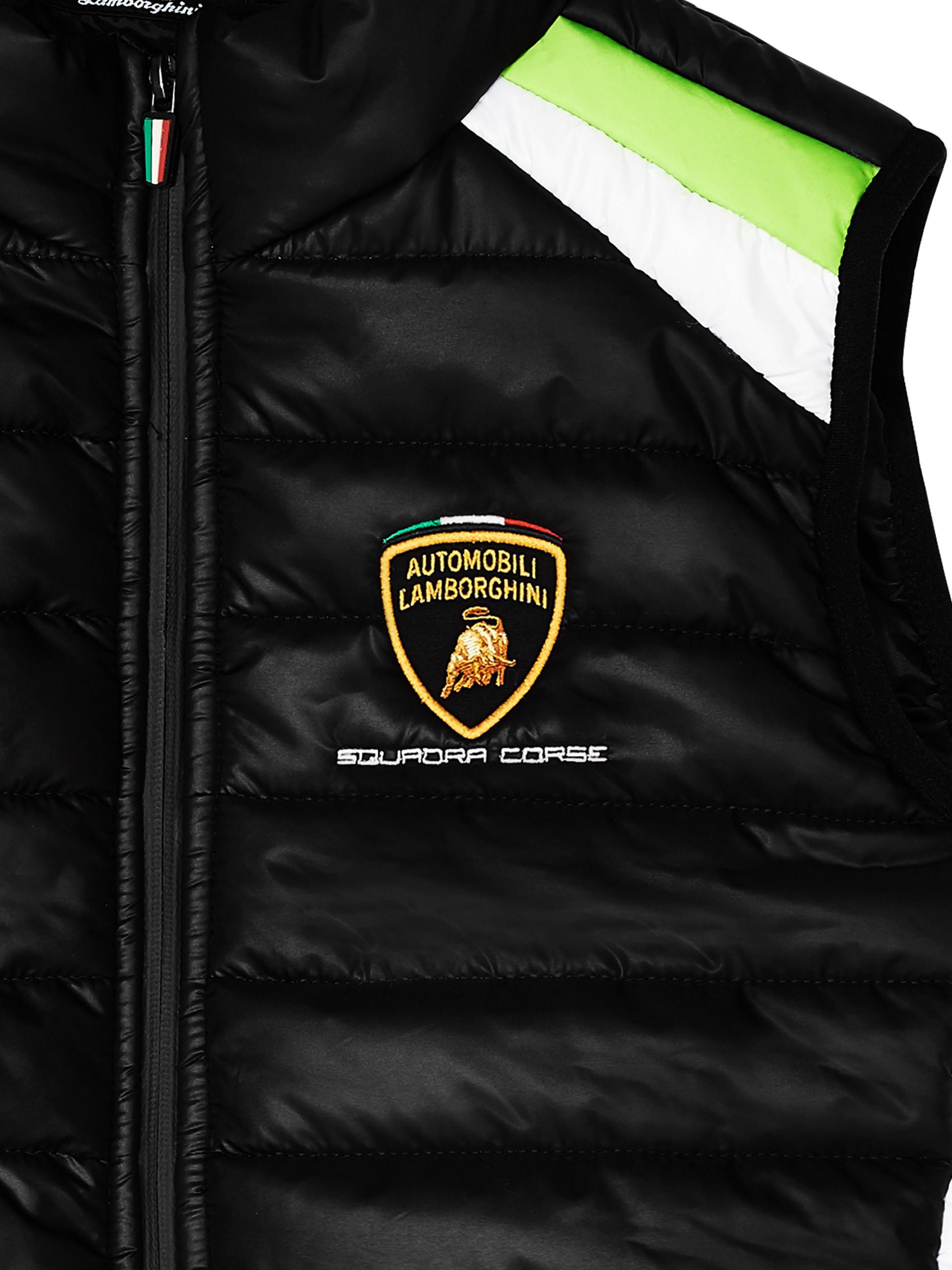 Lamborghini Squadra Corse Polo Kids Black Free Courier Shipping To
