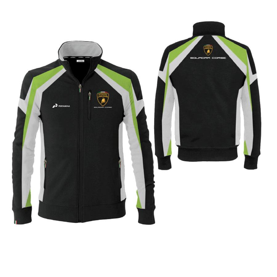 Lc283804 Lamborghini Squadra Corse Womens Zip Up Jacket Sweater