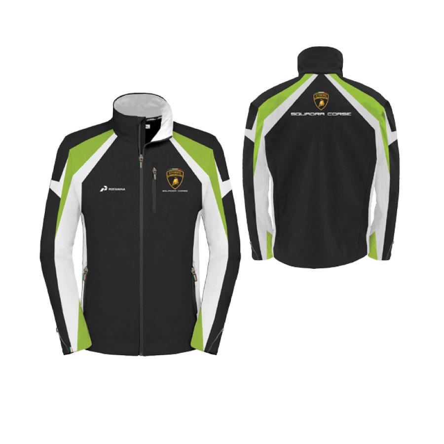 LC282204 Lamborghini Squadra Corse Womens Team Ladies Softshell Jacket (Black)