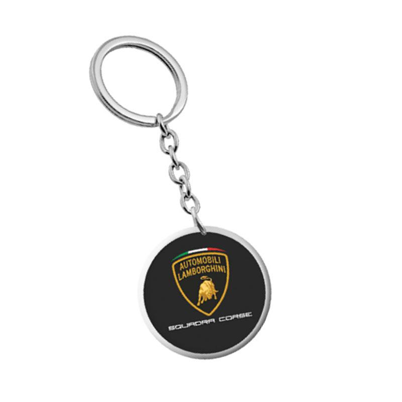LC283104 2017 Lamborghini Squadra Corse GT3 Metal Round Keyring Keychain