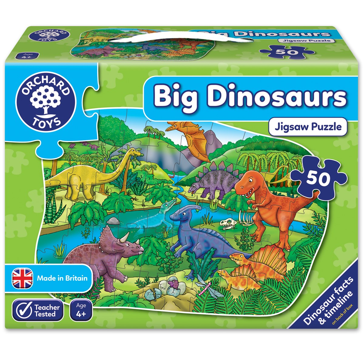 Details about Orchard Toys 256 Big Dinosaur 50 Piece Jigsaw Puzzle Toddler  Children Age 4yrs+