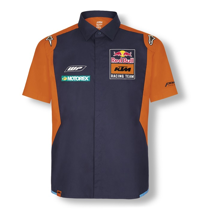 Red Bull KTM Factory Racing Team MotoGP Mens Short Sleeve Shirt by Alpinestars