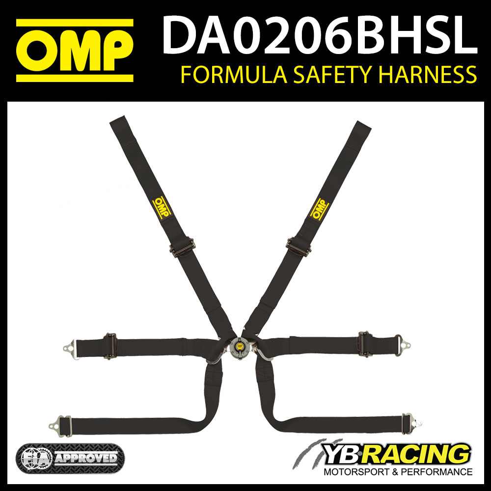 DA0206BHSL OMP FORMULA PULL UP HARNESS 0206B HSL FIA for SINGLE SEATER RACE CARS