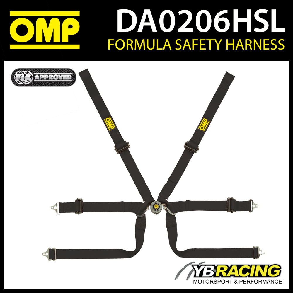 DA0206HSL OMP FORMULA HARNESS 0206 HSL FIA for SINGLE SEATER RACING CARS