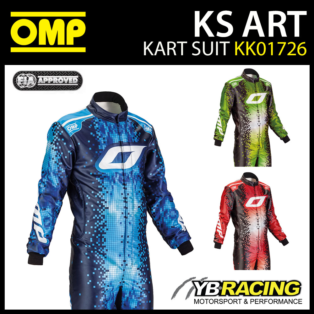 NEW! KK01726 OMP KS ART ADULT KART SUIT DIGITAL PRINTED DESIGN CIK-FIA LEVEL 2