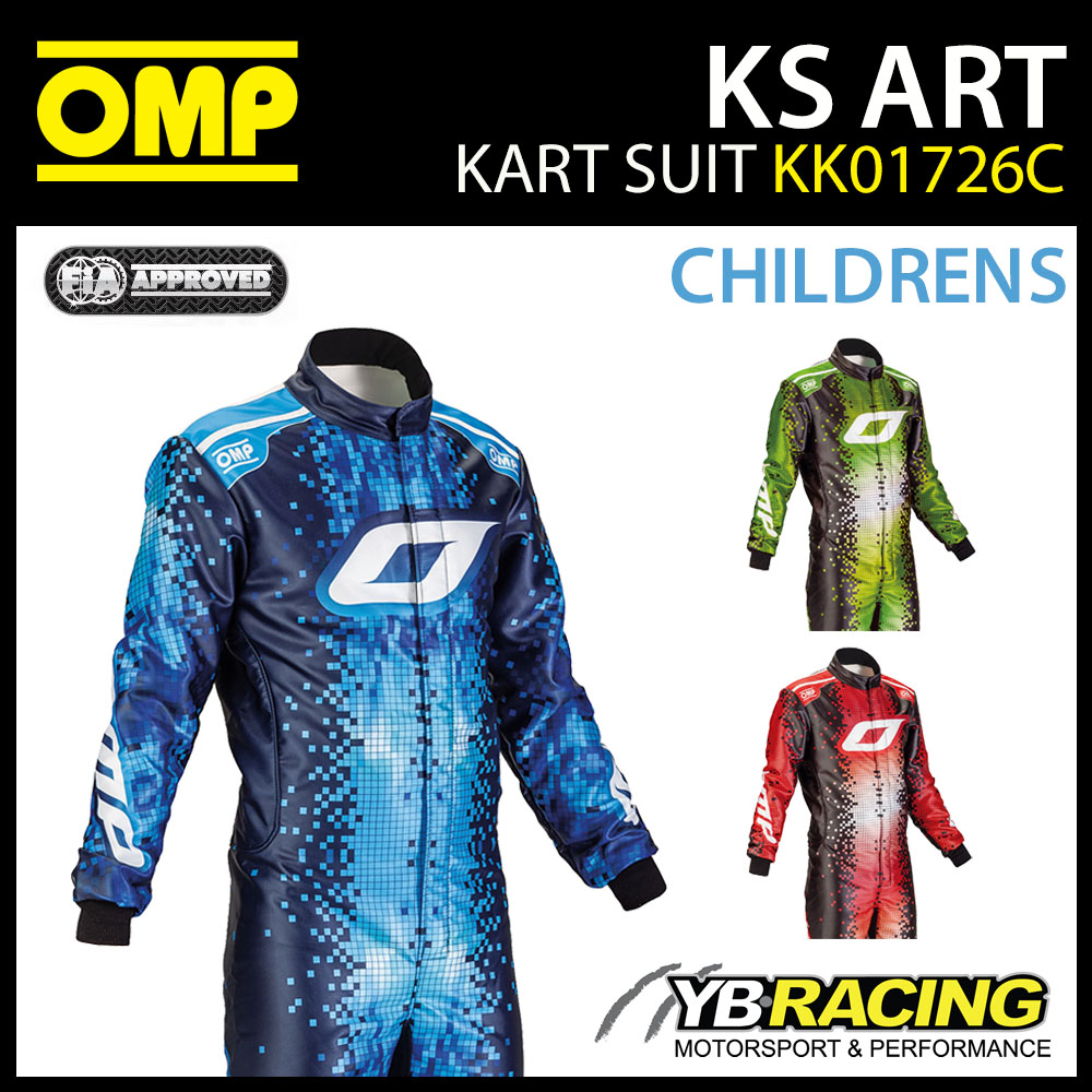 NEW! KK01726C OMP KS ART CHILDRENS KIDS JUNIOR BOYS KART SUIT CIK-FIA LEVEL 2