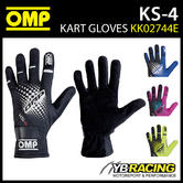 NEW! KK02744E OMP KS-4 KS4 KART GLOVES NEW 2018 UPDATED MODEL