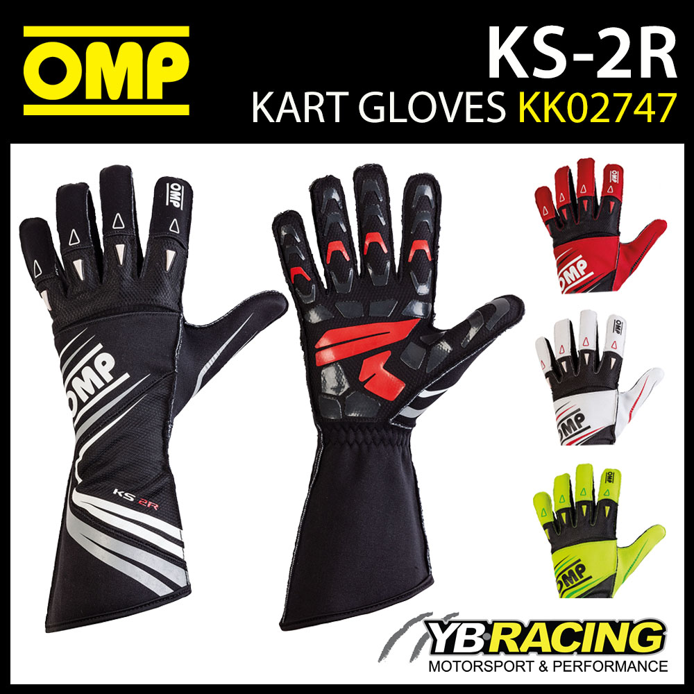 NEW! KK02747 OMP KS-2R KARTING GLOVES in 5 COLOURS ADVANCED KART DESIGN KS 2 R