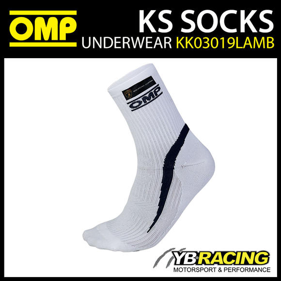 NEW KK03019LAMB OMP KARTING KS TECHNICAL KART SOCKS BLACK LAMBORGHINI EDITION