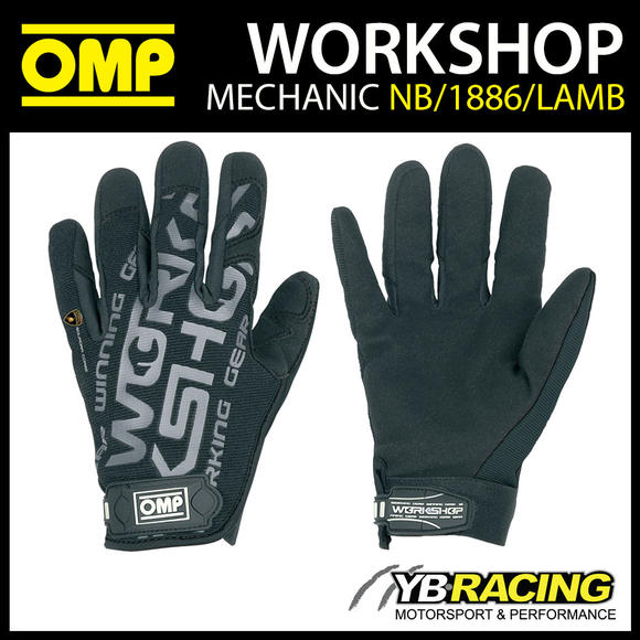 NB/1886LAMB OMP WORKSHOP MECHANIC PIT GLOVES LAMBORGHINI SPECIAL EDITION