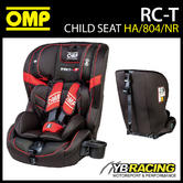 NEW! HA/804/NR OMP RC-T CHILD BABY CAR SEAT BLACK/RED ISOFIX 9-36kg GROUP 1 2 3