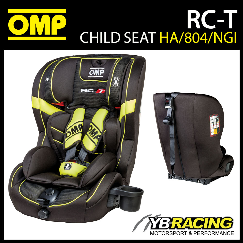 HA/804/NGI OMP RC-T CHILD CAR SEAT BLACK/YELLOW ISOFIX 9-36kg GROUP 1 2 3