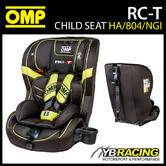 NEW! HA/804/NGI OMP RC-T CHILD CAR SEAT BLACK/YELLOW ISOFIX 9-36kg GROUP 1 2 3