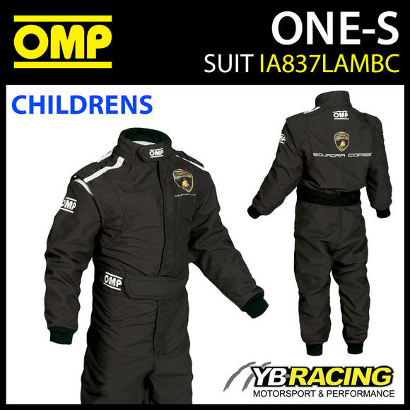 IA837 OMP ONE-S LAMBORGHINI REPLICA RACE SUIT OVERALLS for CHILDREN BOYS KIDS