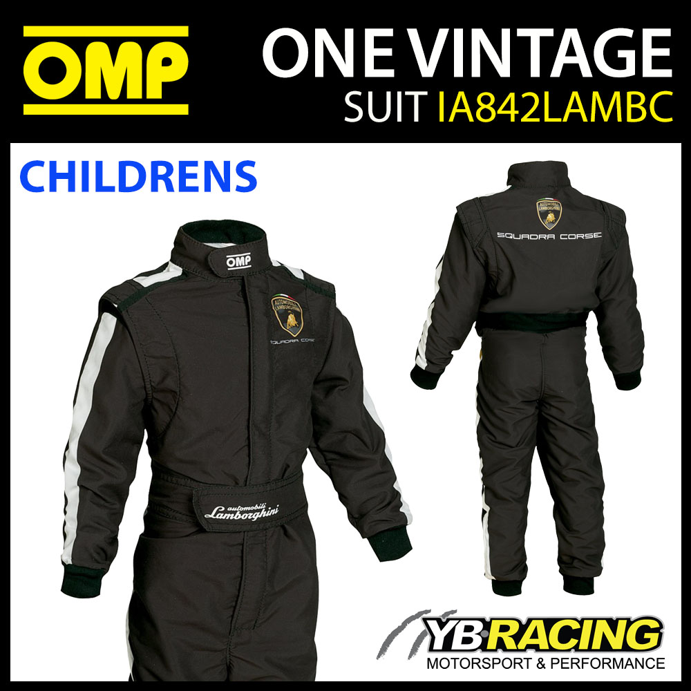 IA842 OMP CHILDREN'S LAMBORGHINI RACE SUIT VINTAGE REPLICA OVERALLS BOYS KIDS