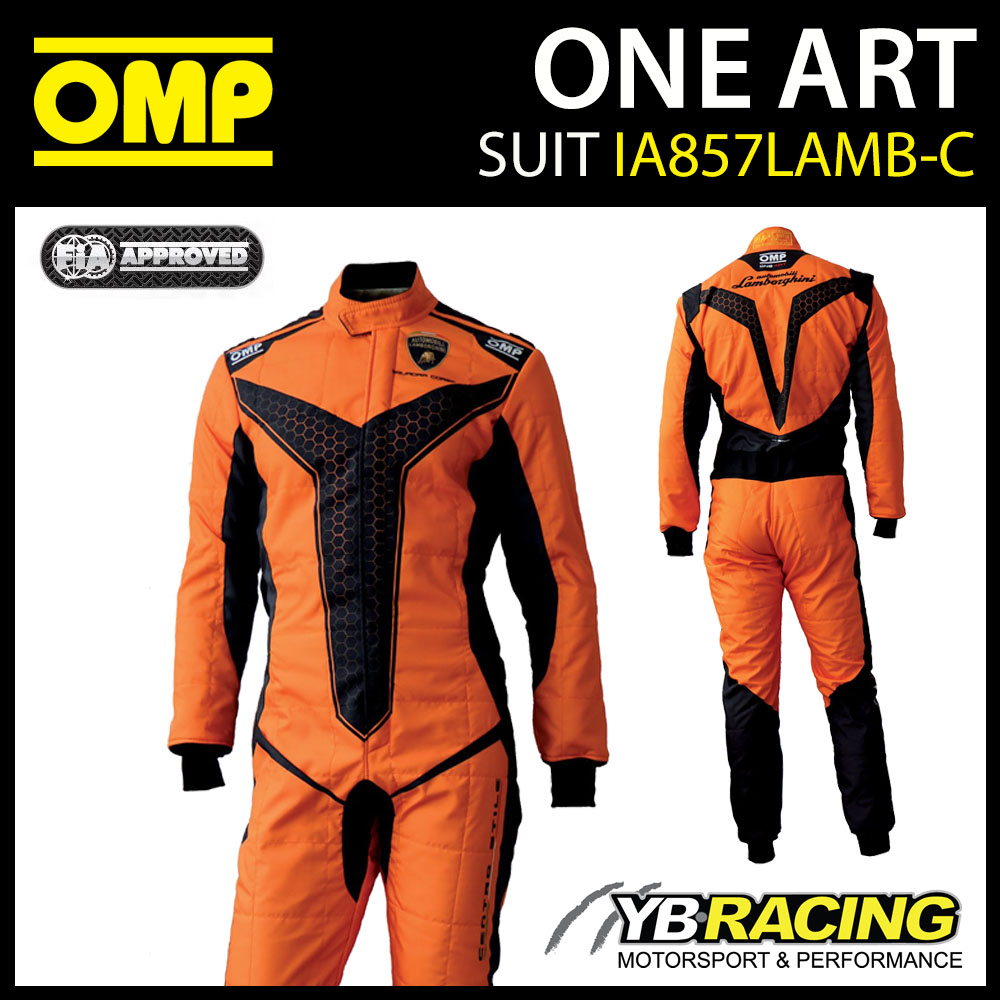 IA857 OMP ONE ART RACE SUIT RECORD LIMITED EDITION LAMBORGHINI DESIGN