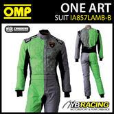 IA857 OMP ONE ART CUSTOM RACE SUIT LAMBORGHINI DESIGN in GREY/GREEN