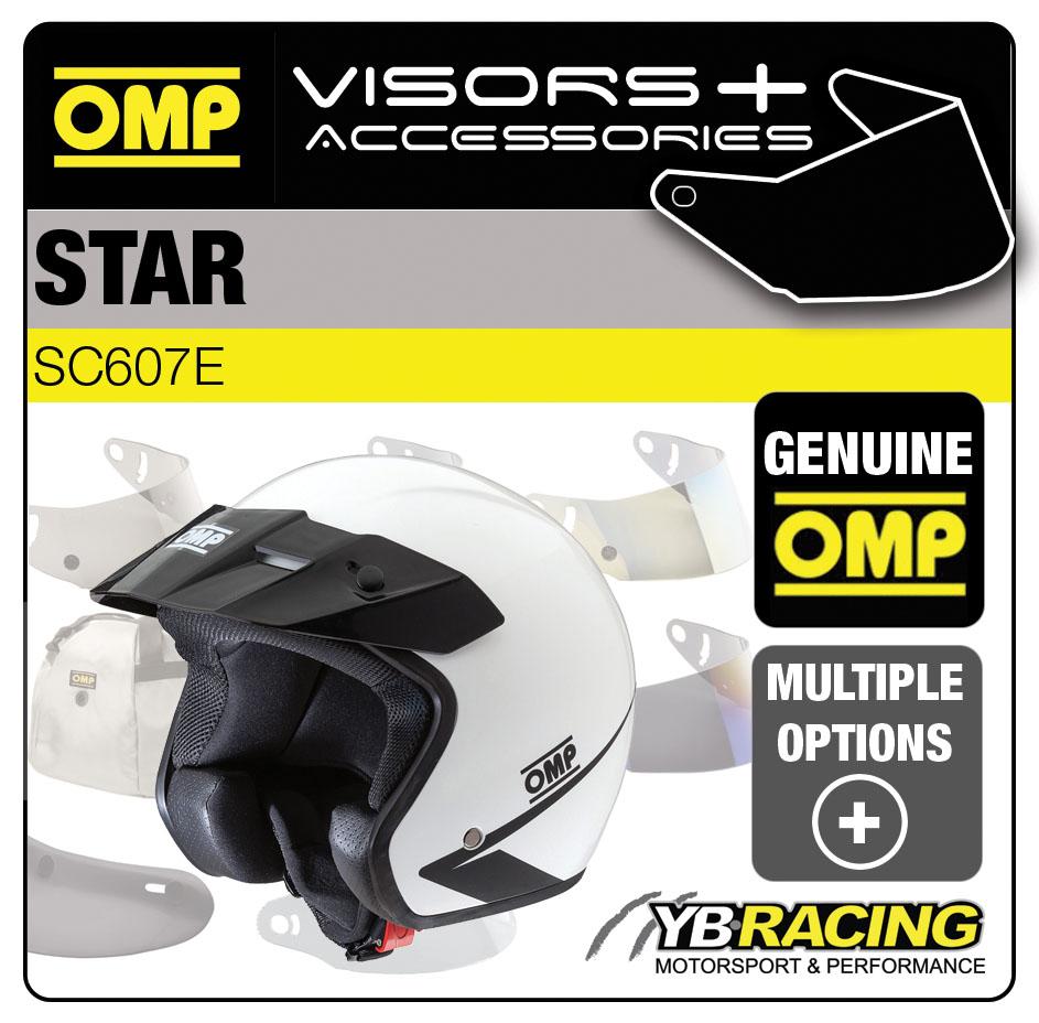 SC607E OMP STAR HELMET BLACK or WHITE SUN PEAK VISORS - REPLACEMENT OR UPGRADE