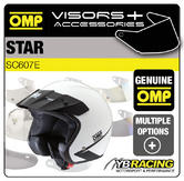 SC607E OMP STAR HELMET BLACK or WHITE SUN PEAK VISORS - REPLACEMENT OR UPGRADE