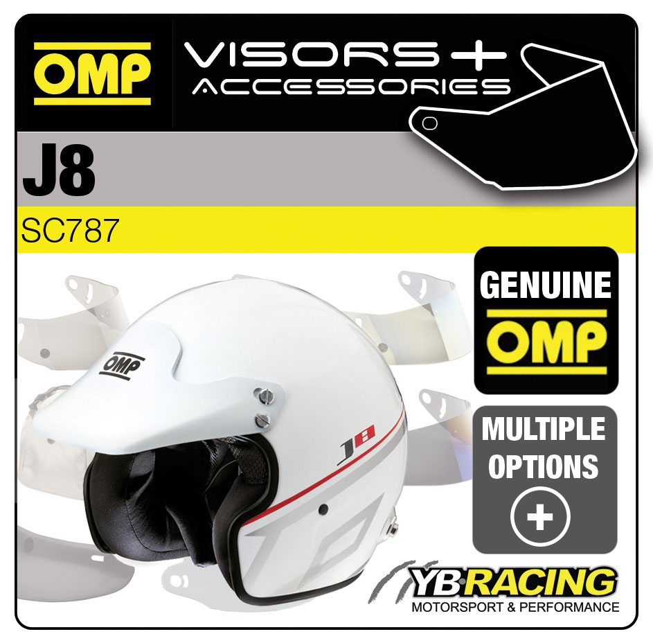 SC787 OMP J8 RACE HELMET OPTIONAL VISORS & ACCESSORIES BY OMP