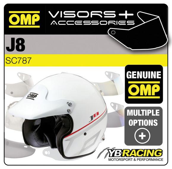 SC787 OMP J8 RACE HELMET OPTIONAL VISORS & ACCESSORIES BY OMP