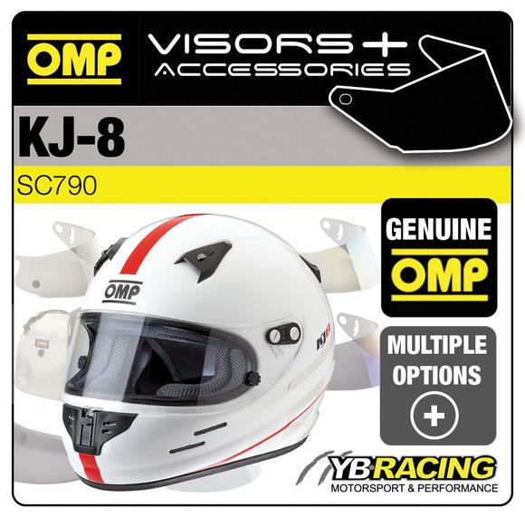SC790 OMP KJ-8 KART HELMET OPTIONAL EXTRA VISORS & ACCESSORIES BY OMP