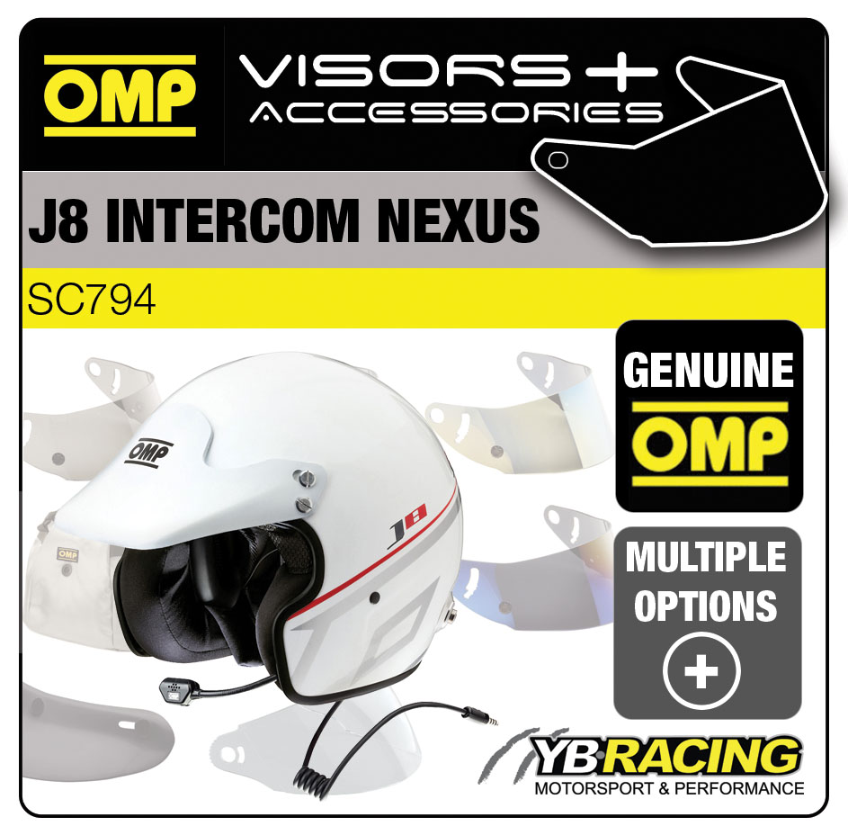 SC794 OMP J8 INTERCOM NEXUS HELMET OPTIONAL EXTRA VISORS & ACCESSORIES BY OMP