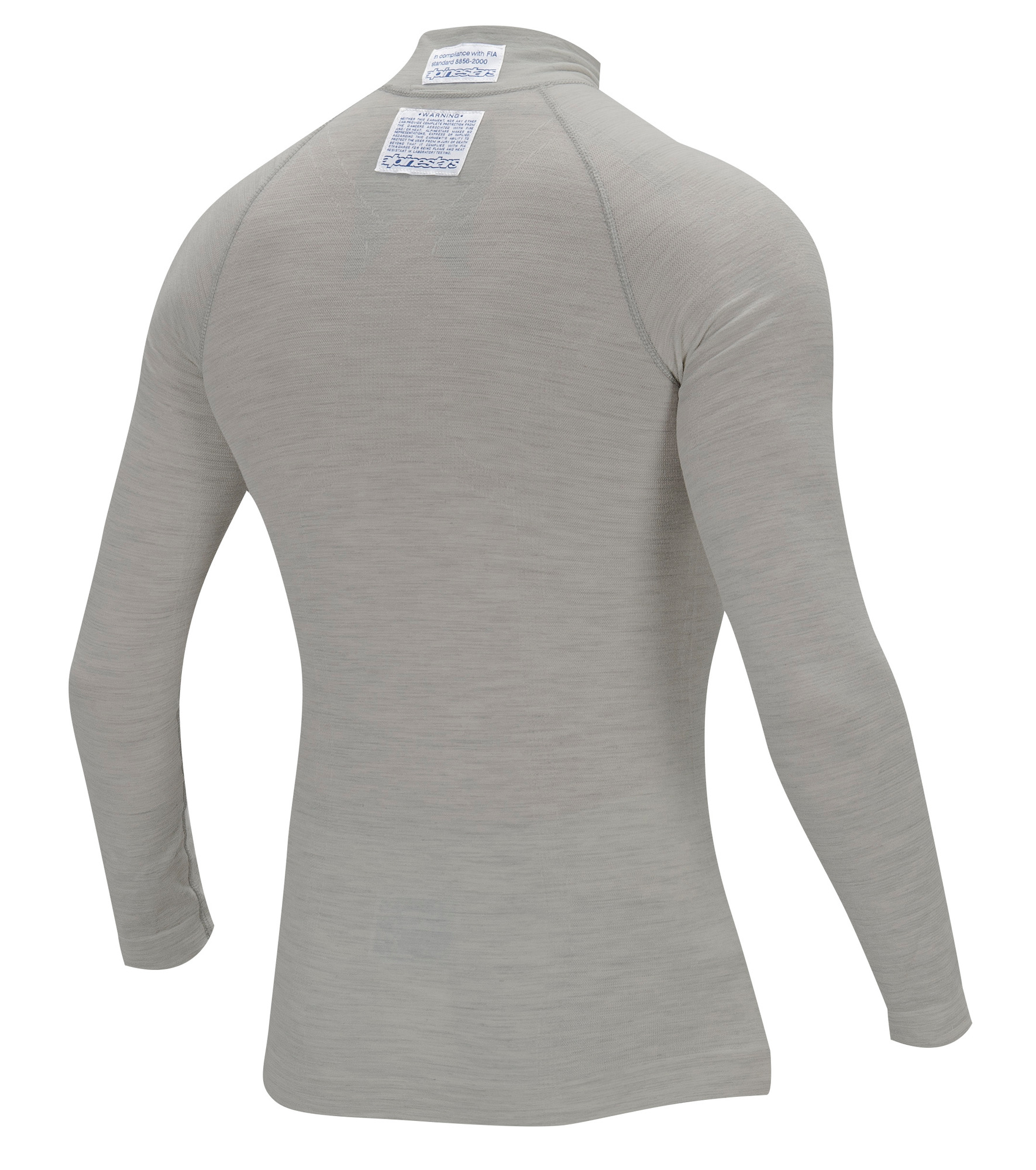 21aaac2ef1c1 Sentinel 4754012 Alpinestars ZX TOP Light Grey LS Long Sleeve Fireproof  Racing Karting