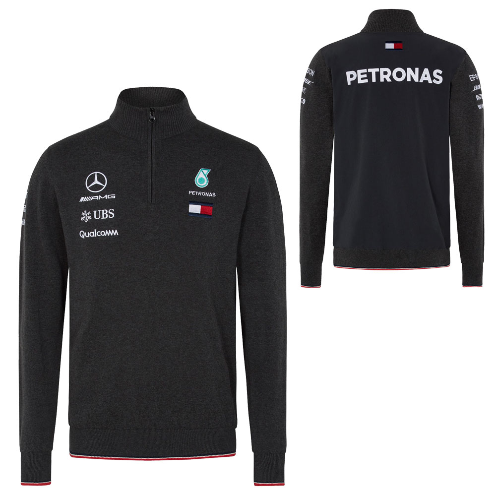 5846fb245 2018 Mercedes-AMG F1 Lewis Hamilton Half Zip Knitted Jumper by Tommy  Hilfiger