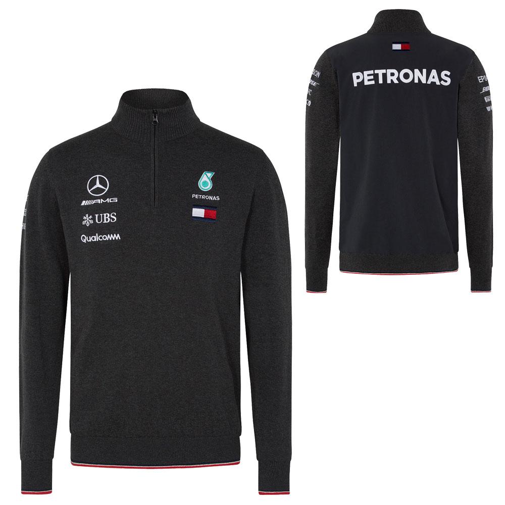 2018 Mercedes-AMG F1 Lewis Hamilton Half Zip Knitted Jumper by Tommy Hilfiger