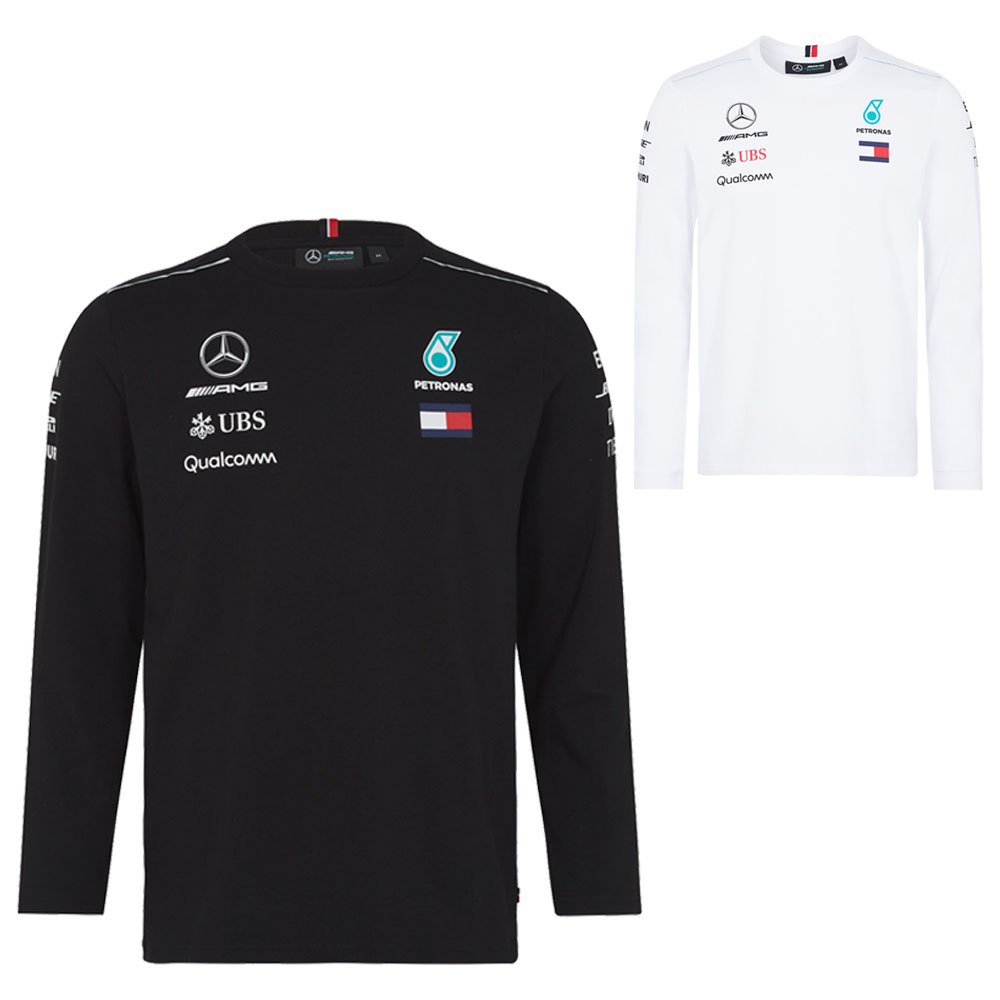 d272ac5a6 2018 Mercedes-AMG F1 Lewis Hamilton Long Sleeve Driver T-Shirt by Tommy  Hilfiger