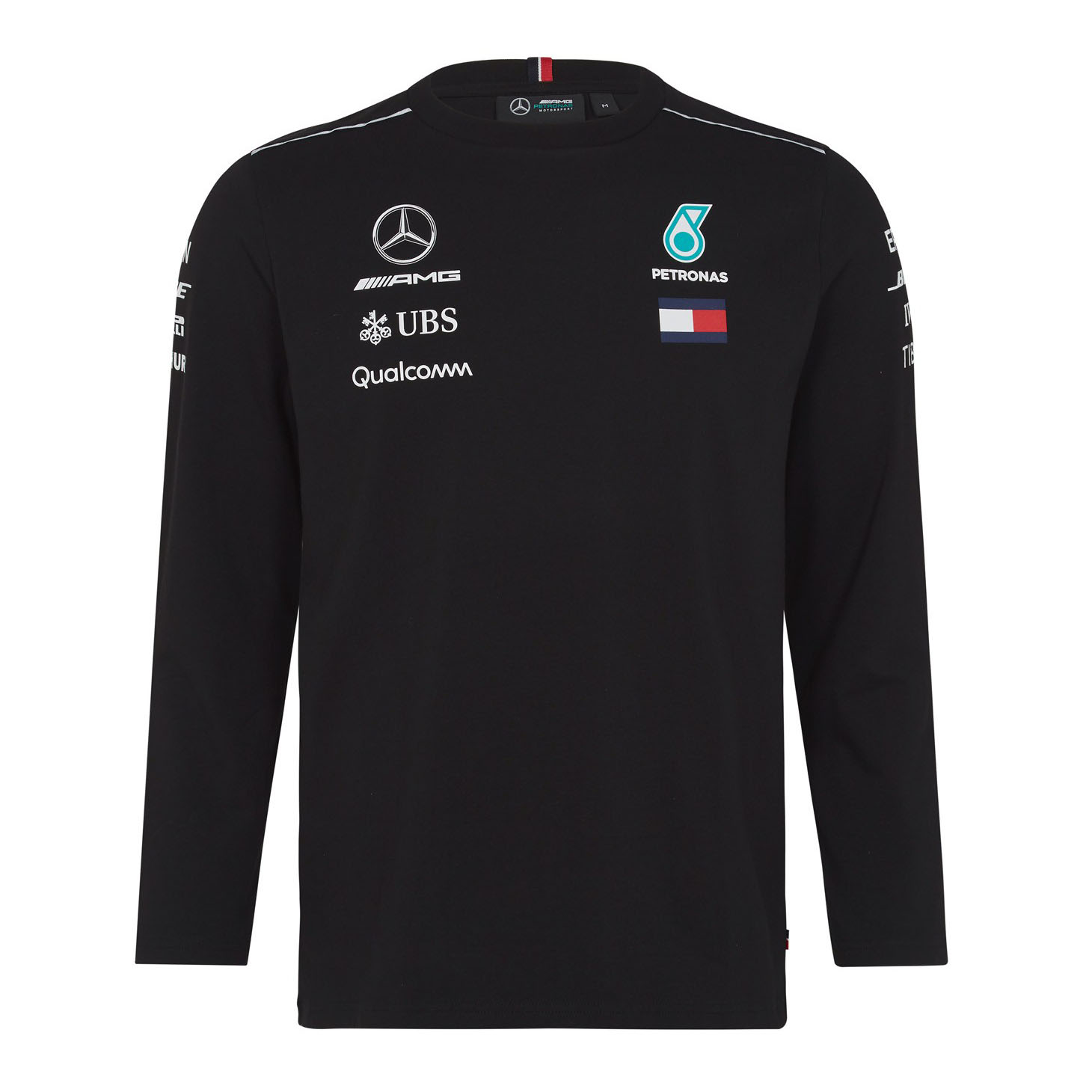 03d473292 Sentinel 2018 Mercedes-AMG F1 Lewis Hamilton Long Sleeve Driver T-Shirt by Tommy  Hilfiger
