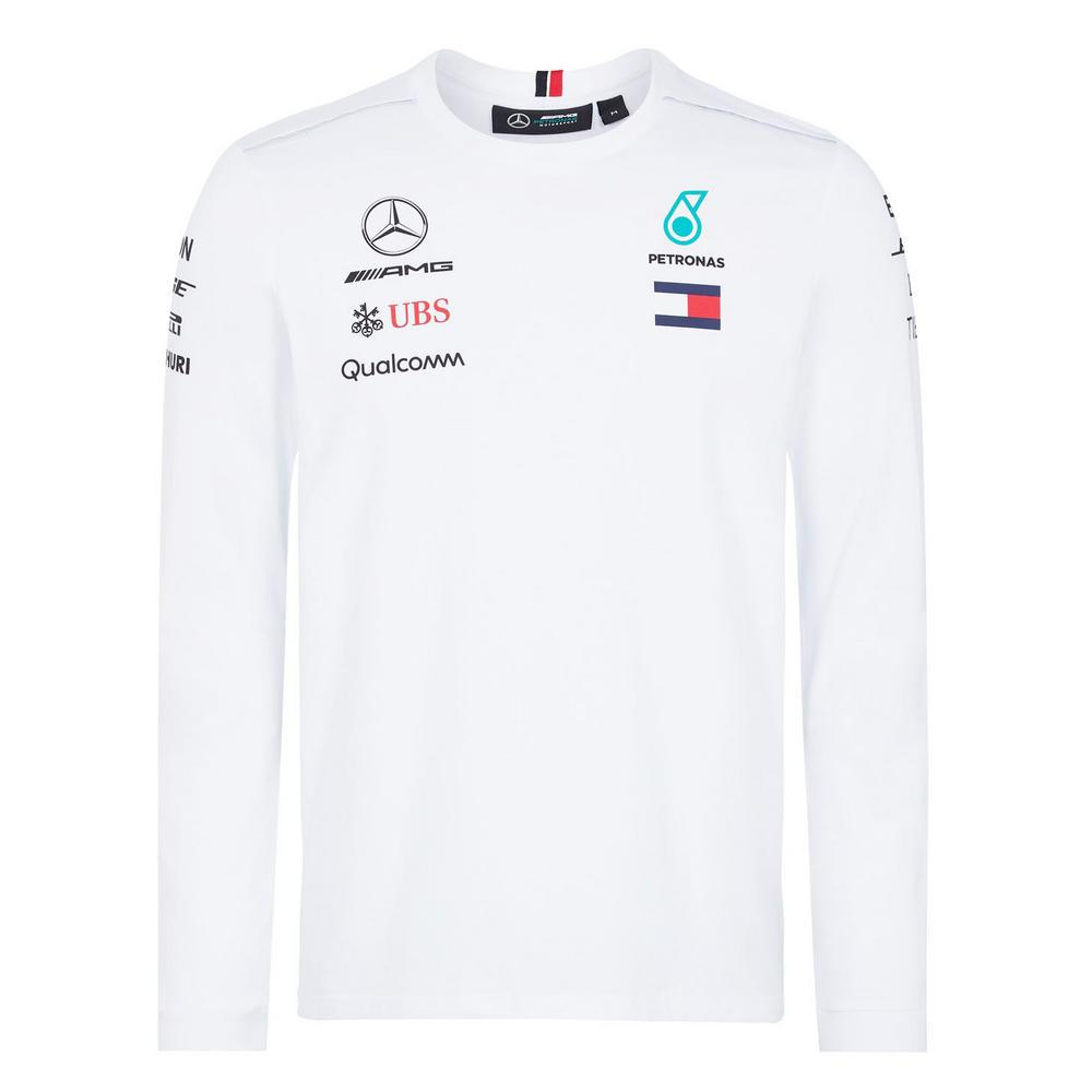 902928046 2018 Mercedes-AMG F1 Lewis Hamilton Long Sleeve Driver T-Shirt by ...