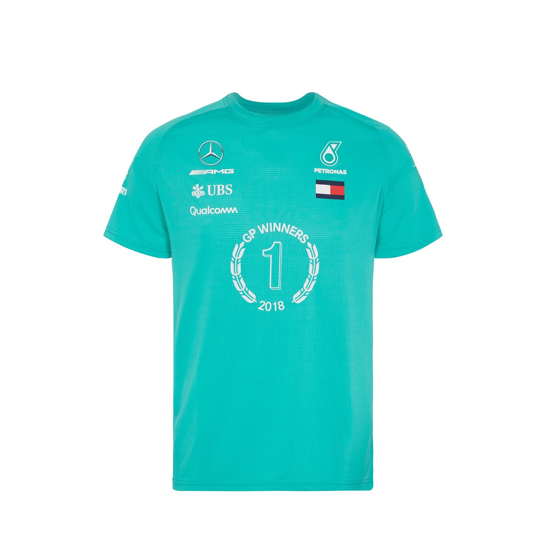 2018 Mercedes-AMG F1 Lewis Hamilton 2018 Race Winner T-Shirt by Tommy Hilfiger