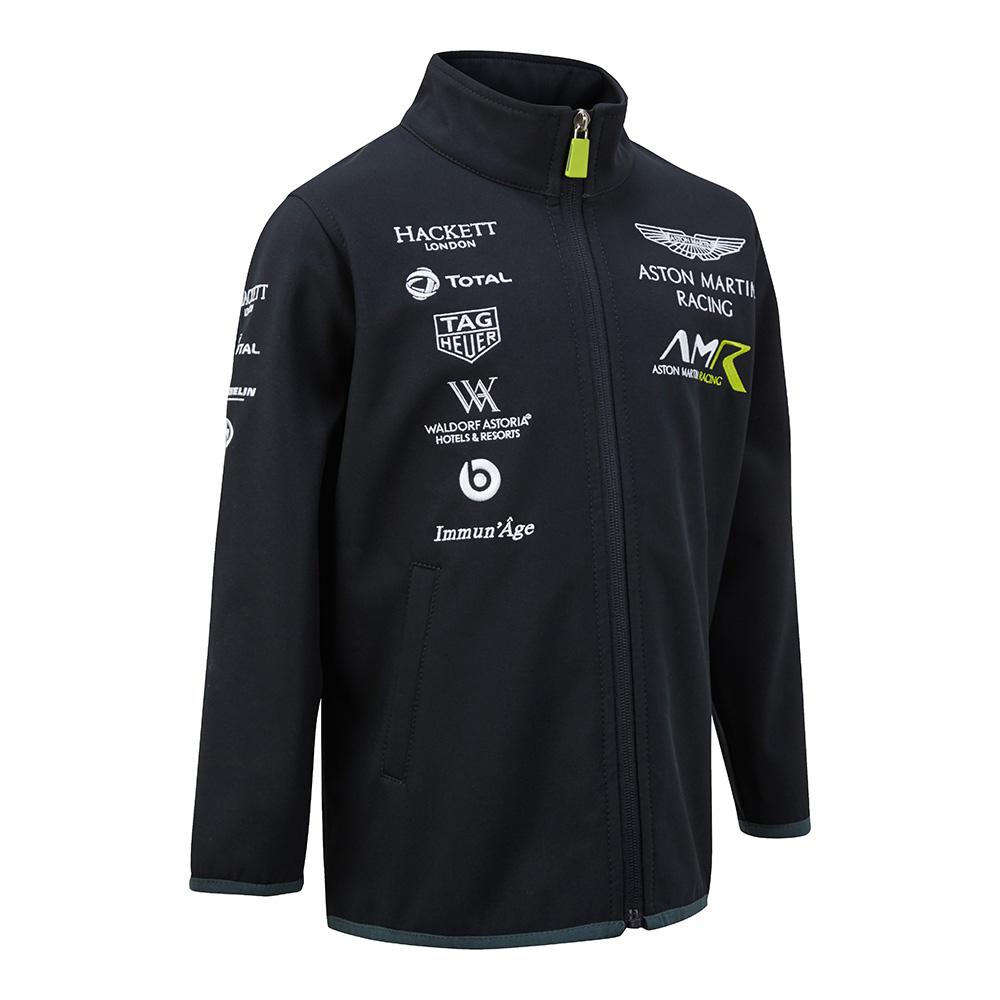 Sale! 2018 Aston Martin Racing Childrens Softshell Jacket Kids Junior Age 3-14yr