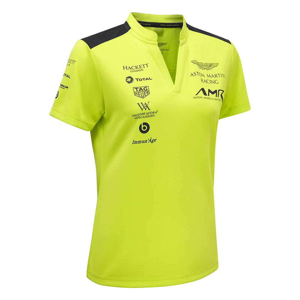 Sale 2018 Aston Martin Racing Ladies Polo Shirt Top Lime Green Women Girls Female Tifoso F1 Merchandise F1 Store