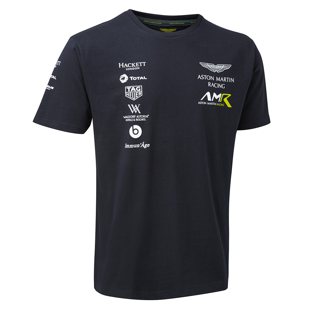 Sale! 2018 Aston Martin Racing Team Mens Sports T-Shirt Navy Sizes XS-XXXL