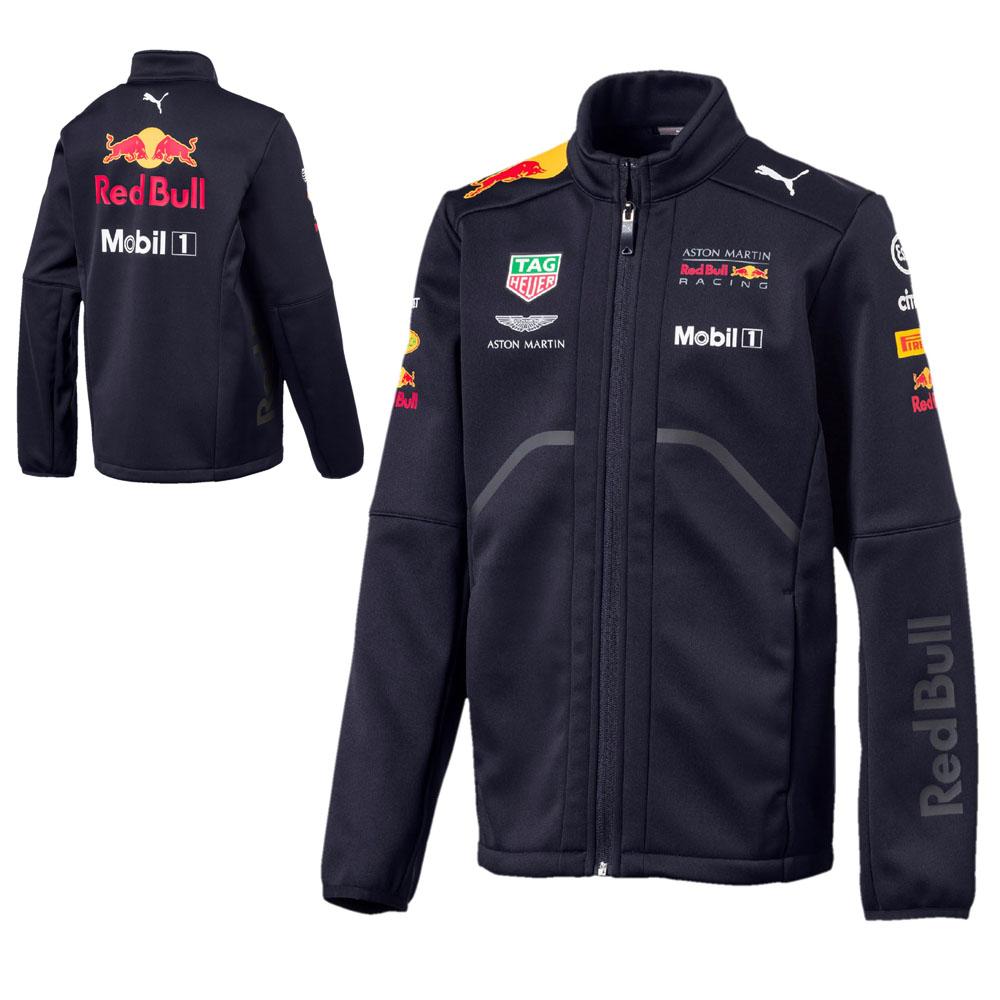 Sale! Red Bull Racing Formula One F1 Team Childrens Softshell Fleece Jacket Kids