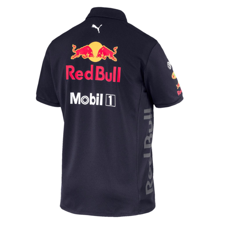 c0e8c22987d 2018 Red Bull Racing Formula One Team Mens Polo Shirt Navy Official Puma F1