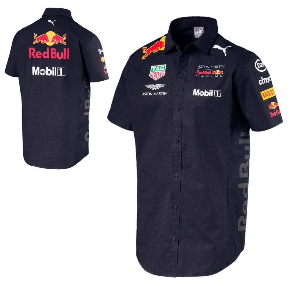 459995722 2018 Red Bull Racing Formula One Mens Team Shirt Navy Official Puma F1 Rang